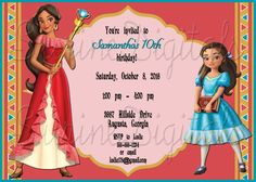 Elena Of Avalor Birthday Invitation Disney Princess Childs Party Invite By SurineDigitals On Etsy