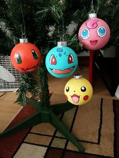 One Hand Painted Ornament : Your choice of character.