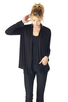 Women'S Rayon Span Super Comfortable Basic Cardigan - Solid