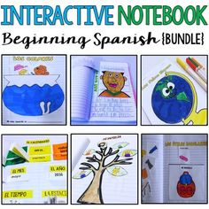 Interactive Notebook - Cuaderno Interactivo ***Please note that this bundle changes price when new activities are added. The good news is that if you already own it, you won& need to purchase it again and will have access to all the new activities. Spanish Interactive Notebook, Interactive Notebooks, Spanish Christmas Songs, Elementary Spanish, Spanish Class, Spanish Flashcards, Flashcards For Toddlers, How To Speak Spanish, Learn Spanish