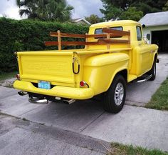 From Just Old Trucks on Facebook  1955 Chevy 3100 on a 2500 Silverado frame 5.7 Vortec. From Miam1 Florida  #chevytruck #pin #twitter #chevy3100