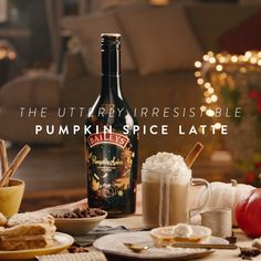 Make a latte fit for fall. Full of delicious notes of cinnamon, maple, and brown sugar, Baileys Pumpkin Spice Latte is a staple of the season. To whip up this delicious and easy recipe, just mix 1.5 oz. coffee, 2 oz. Baileys Pumpkin Spice, and hot milk into a mug. Top with whipped cream, nutmeg, and a cinnamon stick! Talk about yum!