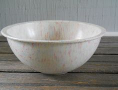 Confetti Mixing Bowl.  White with pink, yellow, blue and orange spots.