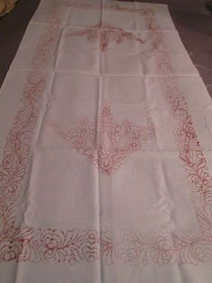 Hungarian MATYO Large Table Runner for Hand Embroidery RARE Estate Find #MATYO