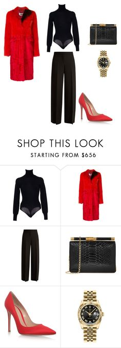 """""""g"""" by gennycasini on Polyvore featuring Alaïa, Givenchy, Alexander McQueen, Gianvito Rossi and Rolex"""
