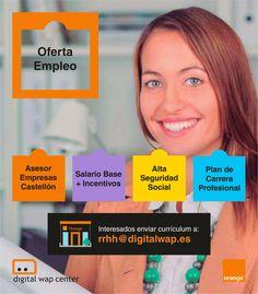 📢 ¿Buscas #empleo? 💼 Únete a nuestro Dpto. de #FuerzaDeVentas en #Castellón Envíanos tu currículum a: rrhh@digitalwap.es Murcia, Smart Tv, Menorca, White Velvet, Digital