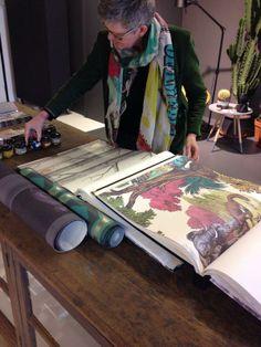 Anita Drent & Martin van Dijk are inspired by Cole & Son wallpapers! www.drentenvandijk.nl