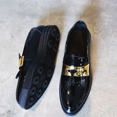 86.45$  Watch now - http://alibz3.worldwells.pw/go.php?t=32790049167 - Luxury High Quality Lacquered Patent Leather Gold Metal Fringed Fashion Shoes Male Casual Shoes Creepers Mocassim Masculino 86.45$
