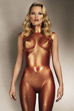 Kate Moss: 'Body Armour, 2013' by Allen Jones (armour and photograph).