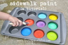 Sidewalk paint from Burlap and Blue
