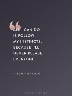 Emma Watson Quotes That Every Woman Should Read via @WhoWhatWear