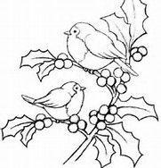 pergamano - Page 2 Magenta Cling Stamp - Christmas Holly Birds Colouring Pages, Adult Coloring Pages, Coloring Books, Bird Embroidery, Embroidery Designs, Christmas Embroidery Patterns, Christmas Patterns, Christmas Colors, Christmas Art