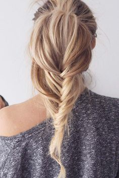 Tousled Fishtail Pony <3 Using Ash Blonde #LuxyHairExtensions on @fakander