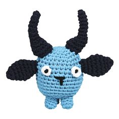 This Blue Bull Tarn Toy is handmade with lots of fun love by the ladies in Humansdorp. It is crocheted with Cotton Tarn Yarn and filled with Eco Fibre Curl – a soft recycled plastic fibre. Doll Toys, Dolls, Cotton Beanie, Funny Bunnies, Sensory Toys, African Animals, T Shirt Yarn, Handmade Toys, Recycling