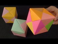 Origami Küp Yapımı - Cetvelsiz ve yapıştırıcısız - Teknoloji ve Tasarım - YouTube