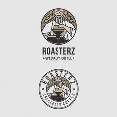 Amazing Logo Emblem For Coffee Shops Bakery Logo Design, Food Logo Design, Vector Logo Design, Identity Design, Coffee Shop Logo, Coffee Shops, Coffee Branding, Logo Face, Minimal Logo Design