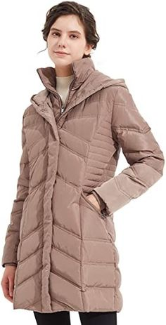 Orolay Women's Hooded Down Jacket Winter Mid Coat Slim Quilted Puffer Jacket Black #amazon #amazonprime #primeday #affiliate Puffer Jackets, Winter Jackets, Amazon Prime Day Deals, Sweater Jacket, Parka, Hoods, Slim, Coat, Womens Fashion