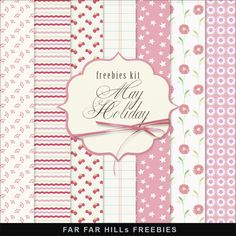 Far Far Hill - Free database of digital illustrations and papers: New Freebies Kit of Backgrounds -May Holiday