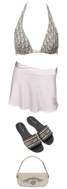 beverly hills summer Outfit | ShopLook Beach Day Outfits, Summer Outfits, Outfit Maker, Beverly Hills, Christian Dior, Bikinis, Swimwear, Monogram, Fashion Outfits