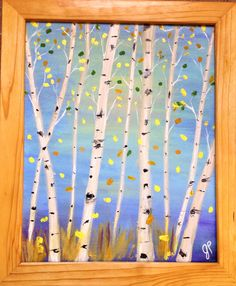 A personal favorite from my Etsy shop https://www.etsy.com/listing/201458057/fall-aspens-or-birch-tree-painting-on