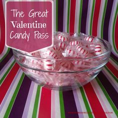 In need of a quickValentine's Day icebreaker? The GreatValentine Candy Pass Supplies: 2-4 wrapped, hard candies (such as mints) per person;bag(s) or bowl(s) for each group tocontain candies; printed list of questions Participants needed: Group of at least 6; multiple groups seated at separate tables orin a circlewill also work well. Directions: Have group (or …