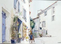 https://flic.kr/p/w13ttK | Lourmarin_ rue de la Juiverie | Ambiance calme et sereine le matin dans cette ruelle parsemée de boutiques et de galeries. Le jasmin au premier plan n'a pas été le plus facile à traiter!