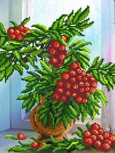 Рисунок на шелке Рябина на окне Матренин Посад 2279622 в интернет-магазине Wildberries.ru