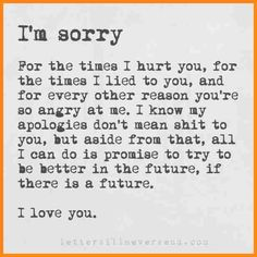 Apology Letter To Friends | Heleenvandenhombergh