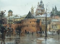 Paint on site in Moscow Red Square by Chien Chung Wei (27x37cm,ARCHES)