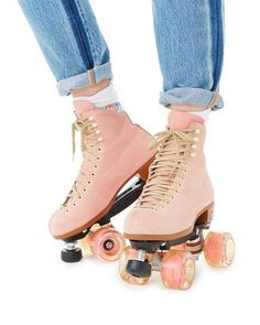 Lolly Roller Skates - Pink by moxi roller skates - shoes - ban. Roller Derby, Pink Roller Skates, Roller Skate Shoes, Roller Skating, Vintage Roller Skates, Outdoor Roller Skates, Skating Rink, Figure Skating, Bowling Outfit