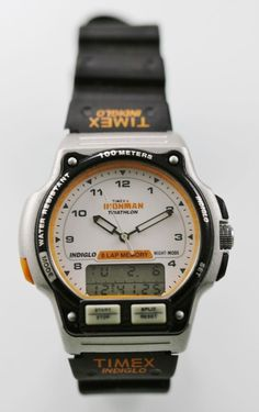 4b1e871239 Timex Ironman Watch Mens Light Date Alarm Chron 24hr Plastic Silver Black  100m