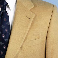 Lacrosse 46L 100% Camel Hair Bespoke 2 Button Blazer Sport Coat ICONIC Jacket #Lacrosse #TwoButton