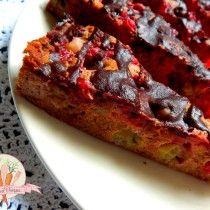 Szybkie ciasto gryczane z porzeczkami i agrestem.