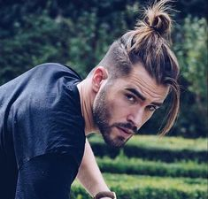 Ponytail Hairstyles for Men Long Curly Hair Men Long Straight Hair with Beard, Long Hairstyles for Men, hair styles for women Ponytail Hairstyles For Men, Undercut Hairstyles, Hairstyles Haircuts, Haircuts For Men, Straight Hairstyles, Man Bun Undercut, Haircut Men, Men Hair Bun, Curly Hair Man Bun