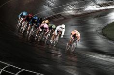 Japanese keirin, night race.