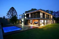 Modern Awesome Design Of The Large Contemporary House Plans That Has Green Grass Can Add The Beauty Inside The Modern House Design Ideas That Seems Great Design Contemporary House Plans, Modern House Design, Expensive Houses, Beauty Inside, Cool Designs, Mansions, Interior Design, Luxury, Architecture