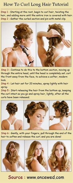 How To Curl Long Hair Tutorial. I'm going to grow out my hair!