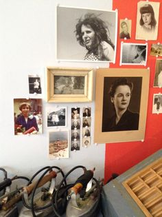 collection of found photos of women - from the exhibit Crustacés Tapes & Collecting Friends
