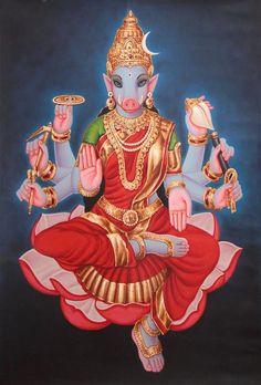 Varahi, the boar headed Matrika, is often worshipped by the Vaishnava-Sahajiyas late at night on the new moon in cremation grounds.