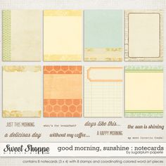 Journaling cards with 8 word art stamps.