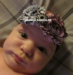 Damask Headband Damask Baby Headband Girl by OurKraftyCreations