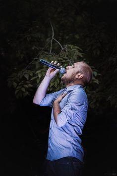 Bogdan Mezofi singing during Backyard Acoustic Season, July Photo by Naluca Alternative Rock Bands, July 7, Acoustic, Singing, Backyard, Seasons, Patio, Seasons Of The Year, Backyards