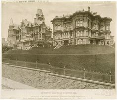 The Mark Hopkins and the Leland Stanford Mansions, California