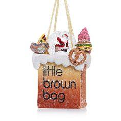 Bloomingdale's Little Brown Bag Santa Snowglobe Ornament - Exclusive Home - Bloomingdale's Nyc Christmas, Christmas Ornaments, Nyc Holidays, Little Brown, Brown Bags, Go Shopping, Snow Globes, Santa, Holiday Decor