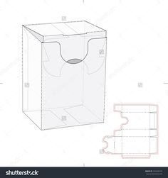 Dispenser Box With Tuck Bottom Lock And Die Cut Template Stock Vector Illustration 303440576 : Shutterstock