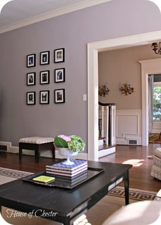 Image result for purple grey wall paint