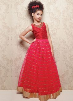 Shop readymade red soft net kids gown , freeshipping all over the world , Item code Long Frocks For Kids, Frocks For Girls, Kids Frocks, Gowns For Girls, Dresses Kids Girl, Kids Outfits Girls, Girl Outfits, Woman Dresses, Baby Dresses