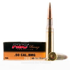 PMC 50 BMG Ammo - 200 Rounds of 660 Grain FMJ-BT Ammunition #50BMG #50BMGAmmo #PMC #PMCAmmo #PMC50BMG #FMJAmmo
