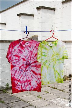 DIY Summery Tie Dye T-Shirts - Step by Step Picture Tutorial