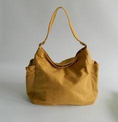 SALE SALE SALE  Renee in Mustard // Tote bag / by christystudio